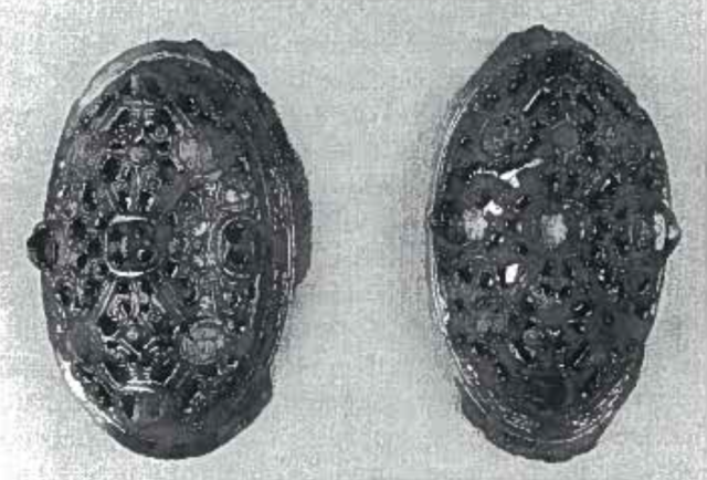 Brooches excavated from Køstrup Grave ACQ on Funen, DK.
