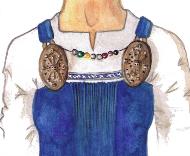 Reconstruction of the dress and jewelry assemblage from Køstrup Grave ACQ.