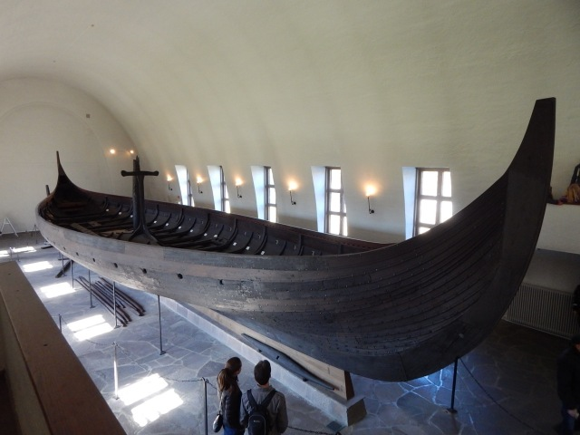 The Gokstad ship.