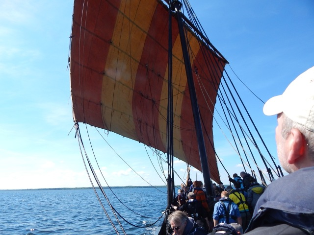 The Sea Stallion under sail.