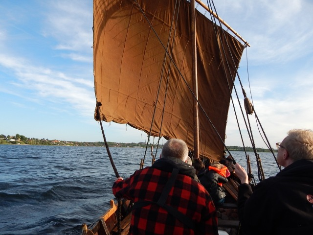 The Skjoldungen under sail.