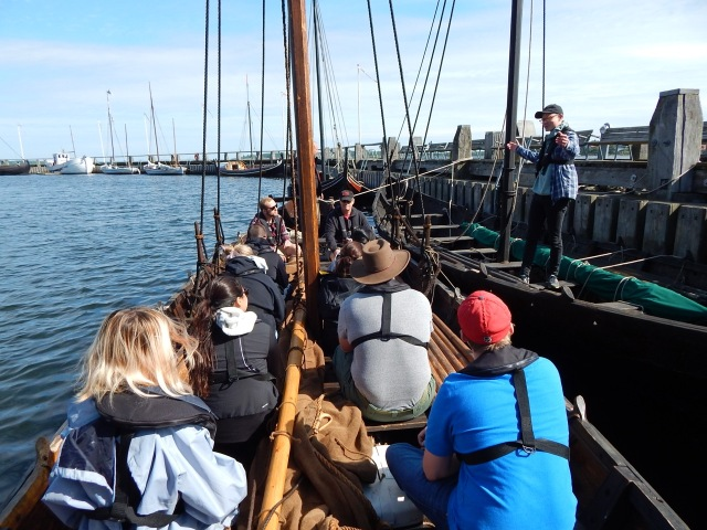 Students from Suffolk County Community College at the Viking Ship Museum in Roskilde, DK.